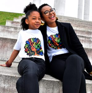 t-shirt afro